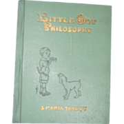 Rare Little Boy Philosophy Maria Talbot Illus book Free P&I US Byers