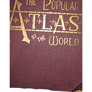1892 The Poplar Atlas of The World Maps Free P&I US Buyers