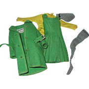 Vintage Tagged Green Felt Skipper Outfit Barbie Free P&I US Buyers Free P&I ...