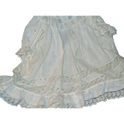 Lovely Summer White sheer lace & cottonVictorian Doll Dress for china or bisque dolls Free P .