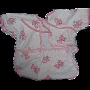 Cute One piece Romper fr Dy Dee Baby doll and Friends Teddy bear design Free ...