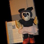 Disney Limited Edition Knickerbocker Cloth Minnie  Mouse Doll Free P&I US Buyers