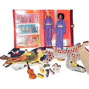 Rare Mego Dinah-Mite Action Two Dolls acessories and wardrobe Free P&I US Buyers