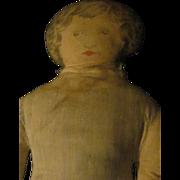 "18"" Old  Cloth litho print doll Free P&I US Buyers"