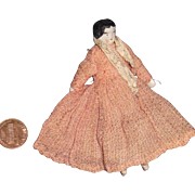 "Miniature 3"" China Flat Top Doll House Doll Free P&I US Buyers"