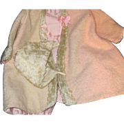 Wonderful 30's Wool baby coat & hat for larger doll Free P&I US Buyes