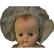 Lovely Blue Ruffled Doll Bonnet for large Dy Dee and Friends Free P&I US Buyers