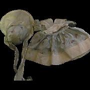 Vintage Doll Bonnet & organdy  Dress For Dy Dee & Friends Free P&I US Buyers