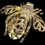 Beautiful Jon Rivers Snow Flake Bumble Bee Brooch Free P&I US Buyers