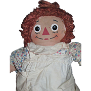 "Early 15"" Sweet Raggedy Ann Georgene Doll Free P&I US Buyers"