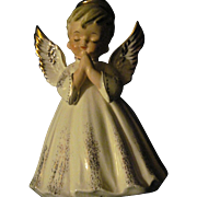 "Rare Large 7"" LEFTON Boy Angel Planter Free P&I US Buyers"