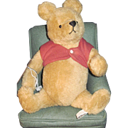 1989 Winnie the Pooh Bear W/CHAIR John Wright 198/500 ltd Free P&I US Buyers