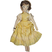 "15"" Cloth Edith Flack type Cloth Doll free P&I US Buyers"