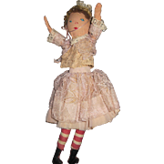 "9"" Edith Flack type cloth doll Unique look free P&I US Buyers"