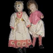 2 Vintage Cloth dolls Free P&I US Buyers
