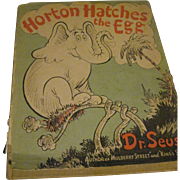 1940 Dr. Suess Horton Hatches the Egg DJ