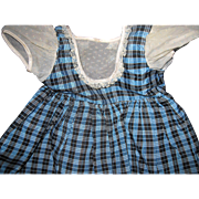 Large 50's Plaid Taffeta Doll Dress for Saucy  or Compo or Plastic Free P&I US Buyers