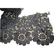 """56"""" of Awesome Black Lace Trim for  China and bisque Dolls Free P&I US Buyers"""