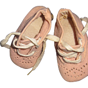 Adorable Pink felt baby shoes for Dydee doll and Friends Free P&I US Buyers