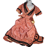 Wonderful two piece Victorian style outfit for china or bisque doll Free P&I US Buyers