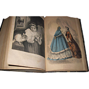 1862 Civil War Era Petersons Fashion Book Magazine Vol 41- 42 Free P&I US ...