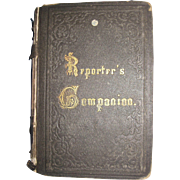 1800's Scarce Reporter's Companion by Benn Pitman phonographic Insititute Cinn, Ohio Court ...