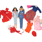 Vintage Skipper & Skooter Dolls and clothes Free P&I US Buyers