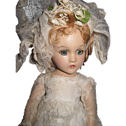 "Fabulous Madame Alexander 15"" Wendy composition Bride  Doll Free P&I US BUYERS"