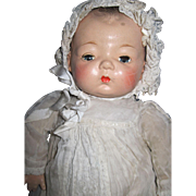 "Sweet 17"" Rare Madame Alexander Composition doll baby Free P&I US Buyers"