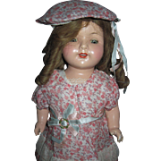 "17"" Beautiful Effanbee composition Rosemary doll Free P&I US Buyers"