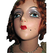 Beautiful Red Head Jointed rmms Boudoir Bed Doll Free P&I US Buyers