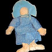 "Adorable 21"" handmade artist cloth doll Free P&I US Buyers"