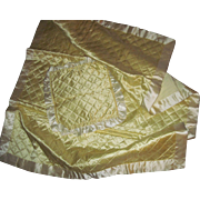 Lovely Pale yellow Satin comforter & pillow cover for Dydee Dolls & Friends Free P&I US ...
