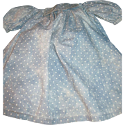 Wonderful Poka Dot Cotton Dress for your larger China or Bisque Dolls Free P&I ...