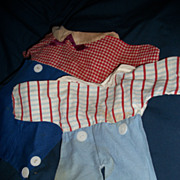 "2 Vintage 12""  Raggedy Andy Knickerbocker outfits Free Postage and Insurance"