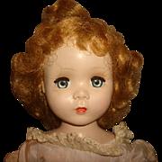 """Vintage 1950s Madame Alexander BINNIE WINNIE Walker Doll 18"""" w/ Tagged Dress and Undergar"""