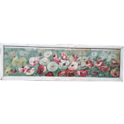 Original Victorian Mixed Flowers YARD LONG Print signed L Clarkson copyright 1892 by JF Ingall