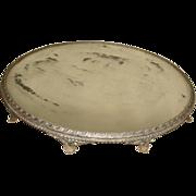 """SALE Huge Victorian 18"""" Eureka Silverplate Mirror Plateau Tray ~ (needs repair)"""