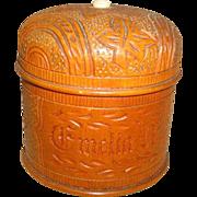 "Antique Carved Wooden Treen Ware Thread STRING HOLDER ""EMELIA"" ~ Treenware Stringhol"