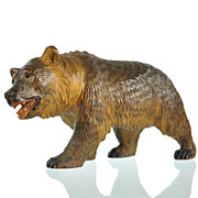 SOLD Antique Black Forest Swiss Hand Carved Bear