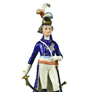 SOLD Frankenthal Wessel Porcelain Napoleonic General Military Figure - Hand Painted