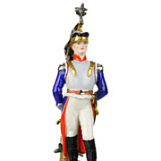 SOLD Frankenthal Wessel Porcelain Napoleonic Military Figure Hand Painted - French Cuirassier