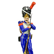 SOLD Frankenthal Wessel Porcelain Military Figure Napoleon Grenadier of the Imperial Guard - H
