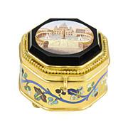 SOLD Antique Italian Grand Tour Micro Mosaic Jewelry Box - Roman Micromosaic - Museum Quality