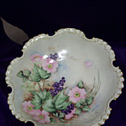 SALE Gorgeous Rosenthal RC Bavaria Hand Painted Master Berry Bowl, Roses and Blueberries, ...