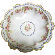 Limoges Master Berry Rose Bowl,Double Marked French Beauty.Ca 1900-1941