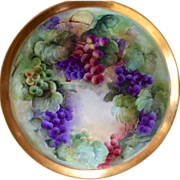 """SALE 16"""" Magnificent Limoges Hand Painted Charger Plaque Platter Tray, Artist Signed """""""