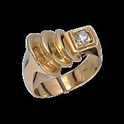 Art Deco 18kt Gold Diamond Ring