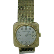 Longines Antique Watch 14 Karat Gold and Diamonds
