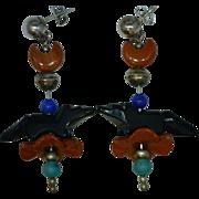 Animal Fetish Earrings Artisan Vintage Native American